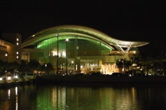 Puerto Rico Convention Center at Night SD Stock Footage
