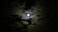 Stock Video Footage of Spooky Moon plus Clouds HD