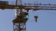 Tower Crane Cabin HD Stock Footage