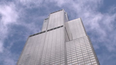 Sears Tower now Willis Tower, Chicago (time lapse) - stock footage