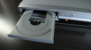 Stock Video Footage of DVD Player-place DVD in tray-close & open MVI-4702