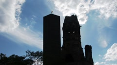 Berlin - Kaiser Wilhelm Memorial Church - Time Lapse Stock Footage