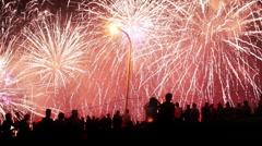 Tokyo Shinozaki fireworks 002 Stock Footage