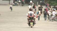 Yangshuo young Chinese people walking Stock Footage