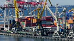 Sea trading port activity time lapse Stock Footage