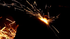 metall cutting with gas welding - stock footage