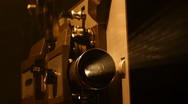 Stock Video Footage of Vintage Film Projector