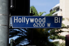 Hollywood Blvd Sign 03 NTSC - stock footage