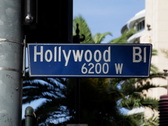 Hollywood Blvd Sign 03 NTSC Stock Footage