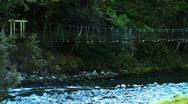 Suspension Bridge 01 Stock Footage