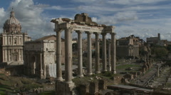 Zoom out of Roman Forum Stock Footage