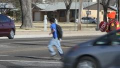 School Crossing Guard 6 Stock Footage