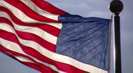 American Flag on a very windy day Stock Footage