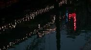Stock Video Footage of San Antonio Texas riverwalk reflection
