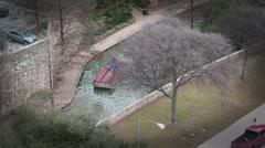 San Antonio Texas riverwalk from above Stock Footage