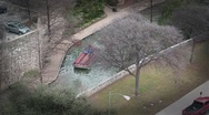 Stock Video Footage of San Antonio Texas riverwalk from above