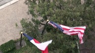 Stock Video Footage of San Antonio Texas texas flag from above