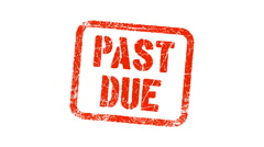 PAST DUE stamp - stock footage