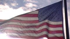 American Flag Stock Footage