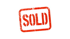 SOLD stamp Stock Footage