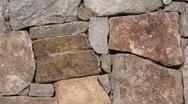 Stone Wall - Stone Masonry 02 Stock Footage