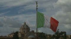 Italian flag in Rome - stock footage