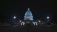 Stock Video Footage of The Capitol at night