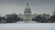 Stock Video Footage of SNOWY US CAPITOL