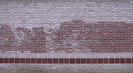 Grungy Brick Wall (wide) Stock Footage