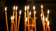 Candles in church . Stock Footage