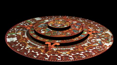 Mayan Calendar Countdown to 2012 (technically Aztec not Mayan) Stock Footage