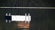 Pontoon On Lake 01 Stock Footage