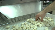 Stock Video Footage of mechanism for production of ravioli 2