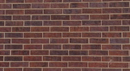 Red Brick Wall (medium shot) Stock Footage