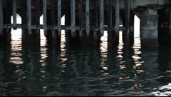 SF Fort Mason Pier Pilings Stock Footage