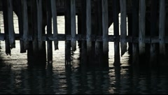 SF Fort Mason Pier Pilings MVI 3472 Stock Footage