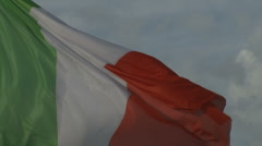 Italian flag (slow motion movement) - stock footage
