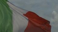 Italian flag (slow motion movement) Stock Footage