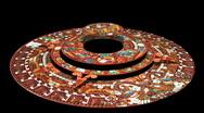 Mayan Doomsday Calendar (technically Aztec not Mayan) Rotates in 3D Stock Footage