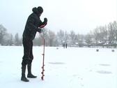 Winter fishing Stock Footage
