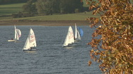 Stock Video Footage of Dinghies race on Rutland Water.