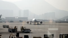 View of Airplane from Lounge Stock Footage