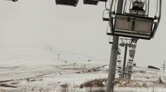 On the Ski Lift Stock Footage