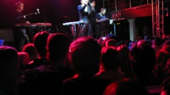 Happy crowd on Tatiana Zykina concert at IKRA club Stock Footage