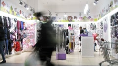 People walk in bijouterie shop Stock Footage