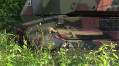 Kinmen taiwan tank close up Stock Footage