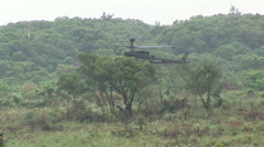 Taiwan military exercise Bell OH-58 Kiowa in action 2 Stock Footage