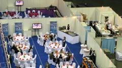 Banquet after the end of XXX World Rhythmic Gymnastics Championships - stock footage
