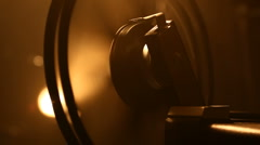 Film Projector Reel Turn On Stock Footage