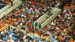 Spectators at XXX World Rhythmic Gymnastics Championships - stock footage